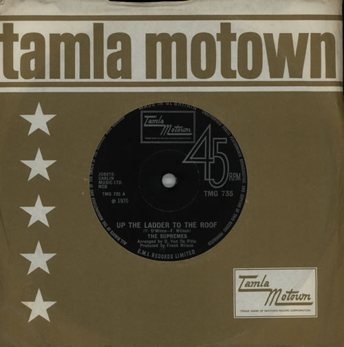 """The Supremes Up The Ladder To The Roof 7"""" vinyl single (7 inch record) UK SPM07UP571355"""