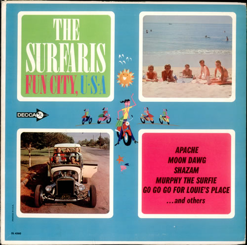 The Surfaris Fun City, U.S.A. vinyl LP album (LP record) US SRFLPFU531756