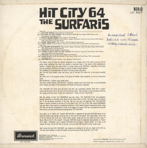 The Surfaris Hit City '64 - woc vinyl LP album (LP record) UK SRFLPHI743651