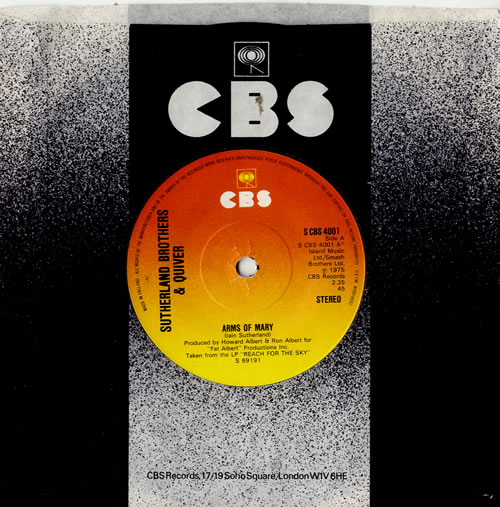 """The Sutherland Brothers & Quiver Arms Of Mary 7"""" vinyl single (7 inch record) UK SBQ07AR574083"""