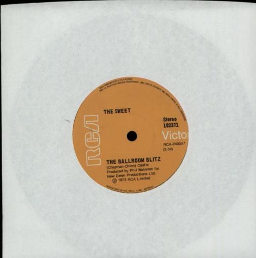 "The Sweet The Ballroom Blitz 7"" vinyl single (7 inch record) Australian SWT07TH611463"