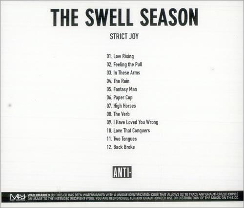 The Swell Season Strict Joy CD-R acetate US S8LCRST514681