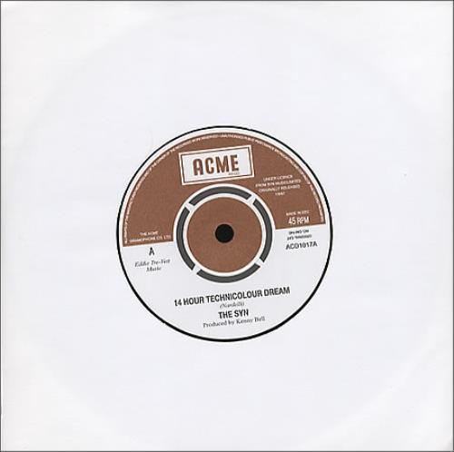 "The Syn 14 Hour Technicolour Dream 7"" vinyl single (7 inch record) UK SY207HO362700"