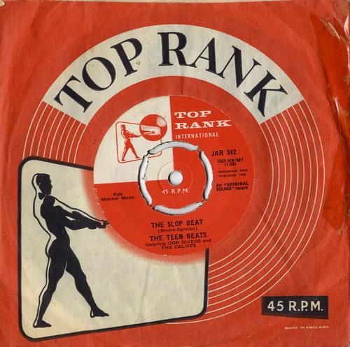 "The Teen Beats The Slop Beat 7"" vinyl single (7 inch record) UK U6G07TH546724"