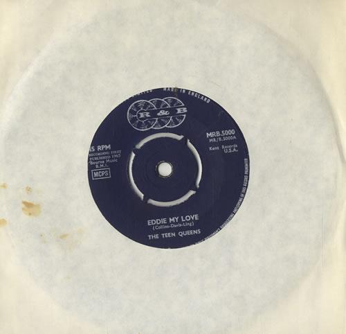 "The Teen Queens Eddie My Love 7"" vinyl single (7 inch record) UK VXQ07ED572299"