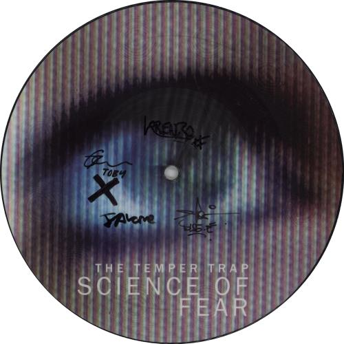 """The Temper Trap Science Of Fear - Autographed 7"""" vinyl picture disc 7 inch picture disc single UK T8E7PSC669107"""
