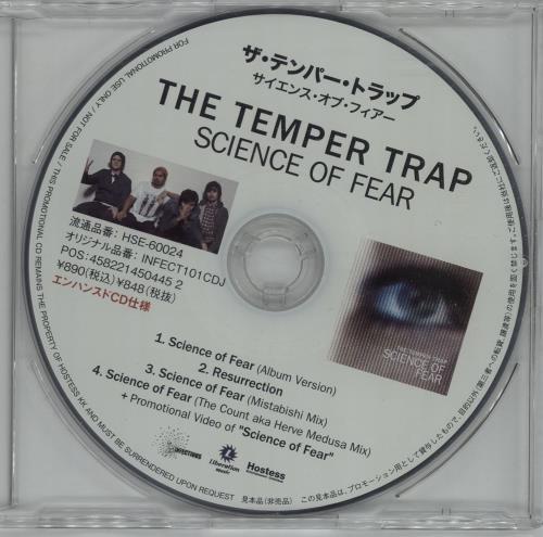 "The Temper Trap Science Of Fear CD single (CD5 / 5"") Japanese T8EC5SC577659"