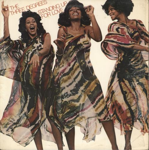 The Three Degrees Standing Up For Love vinyl LP album (LP record) US TDGLPST708909