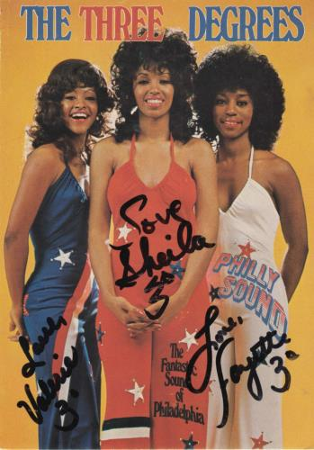 The Three Degrees The Three Degrees - Autographed memorabilia German TDGMMTH711065