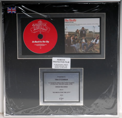 The Thrills So Much For The City in-house award disc UK RILAISO591463
