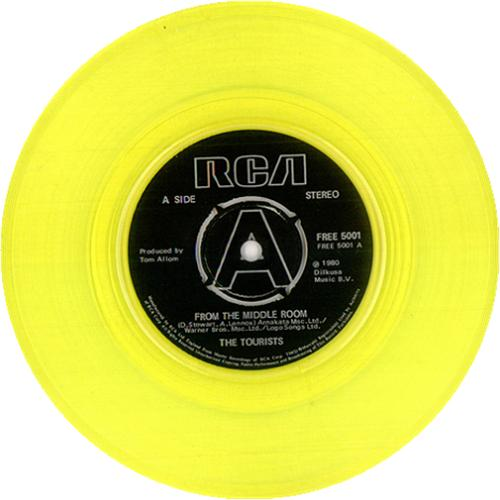 "The Tourists From The Middle Room - Yellow Vinyl 7"" vinyl single (7 inch record) UK TOU07FR95191"