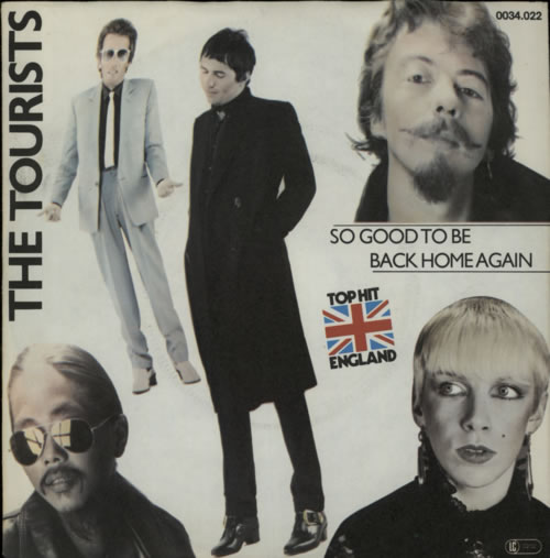"""The Tourists So Good To Be Back Home - Pink Injection 7"""" vinyl single (7 inch record) German TOU07SO94502"""