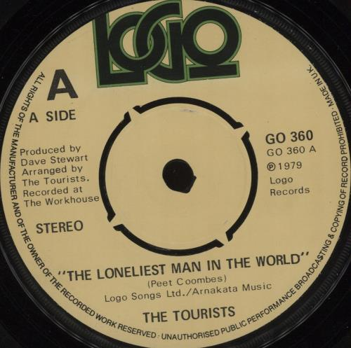 """The Tourists The Loneliest Man In The World - 4pr 7"""" vinyl single (7 inch record) UK TOU07TH396234"""