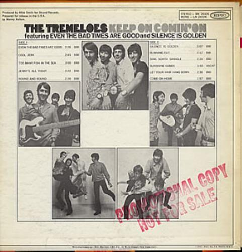 The Tremeloes Keep On Comin On Us Promo Vinyl Lp Album