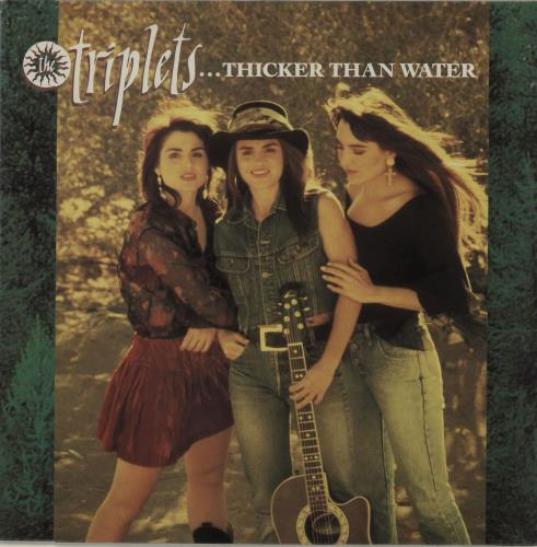 The Triplets ...Thicker Than Water vinyl LP album (LP record) UK TIPLPTH679043