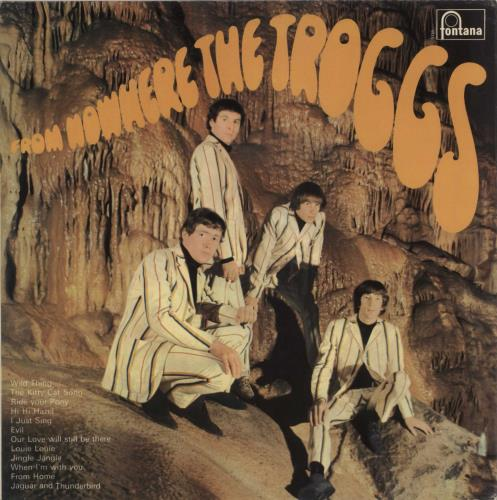 The Troggs From Nowhere... - Pasted Sleeve vinyl LP album (LP record) UK TRGLPFR726220