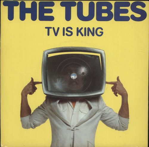 "The Tubes TV Is King - Yellow - P/S 7"" vinyl single (7 inch record) UK TBE07TV701402"