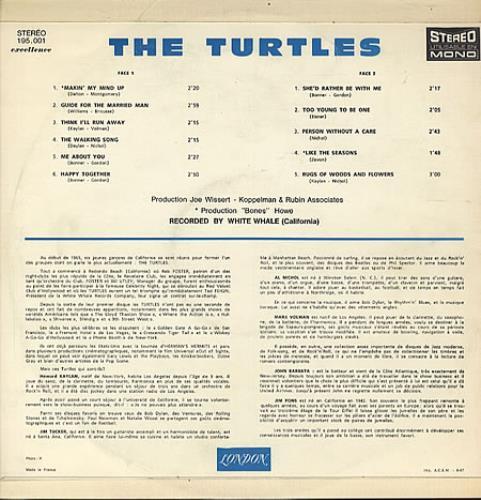 The Turtles Happy Together French Vinyl Lp Album Lp