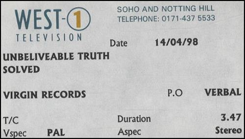 The Unbelievable Truth Solved video (VHS or PAL or NTSC) UK UBTVISO112023