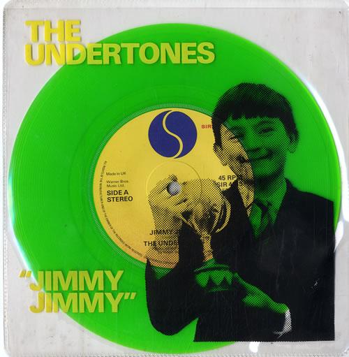 "The Undertones Jimmy Jimmy - Green 7"" vinyl single (7 inch record) UK UDT07JI295860"