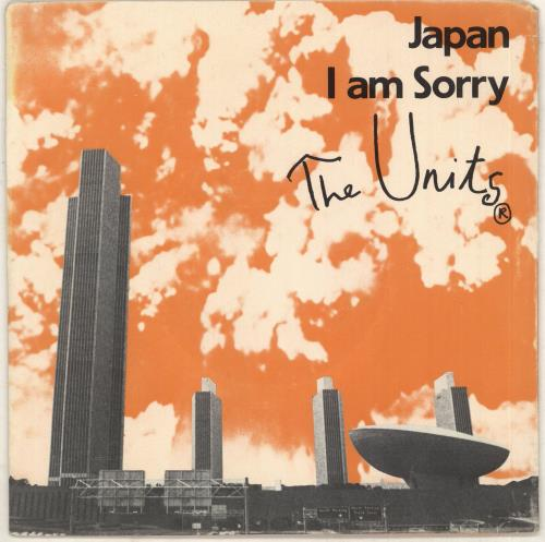 "The Units Japan 7"" vinyl single (7 inch record) US 02807JA739869"