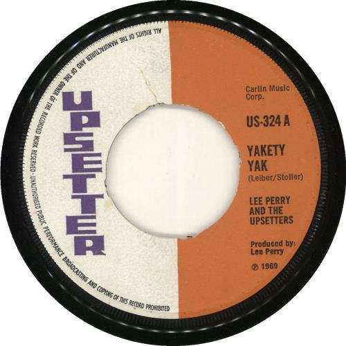 "The Upsetters Yakety Yak 7"" vinyl single (7 inch record) UK TB807YA721875"