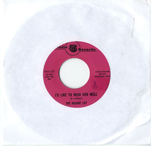 """The Vacant Lot I'd Like To Wish Her Well 7"""" vinyl single (7 inch record) US WMQ07ID602141"""