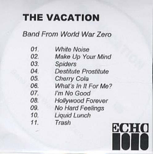 The Vacation Band From World War Zero CD-R acetate UK TI8CRBA314784