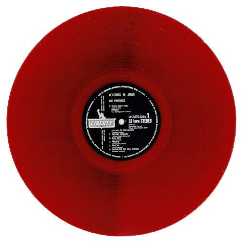The Ventures In Japan Red Vinyl Japanese Vinyl Lp Album