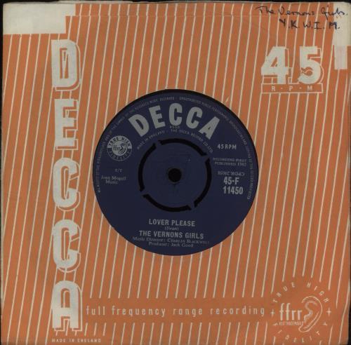"The Vernons Girls Lover Please 7"" vinyl single (7 inch record) UK VRG07LO420955"