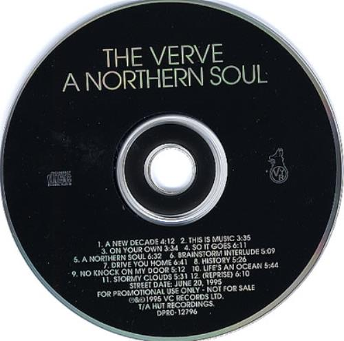 The Verve A Northern Soul Us Promo Cd Album Cdlp 107068