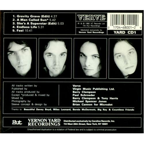 The Verve The Verve E P  US CD single (CD5 / 5