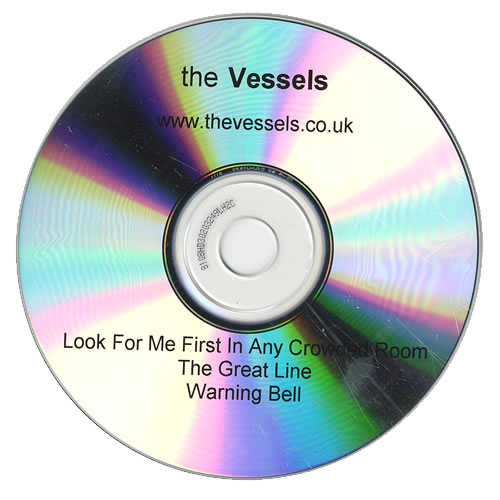 The Vessels Look For Me First In Any Crowded Room CD-R acetate UK V/ECRLO472329