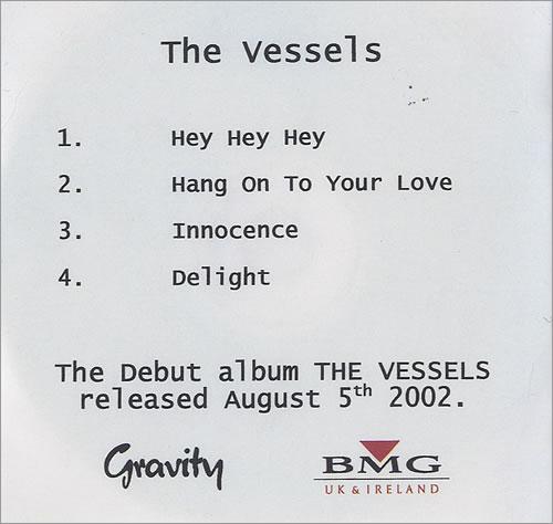 The Vessels The Vessels - Album Sampler CD-R acetate UK V/ECRTH484784