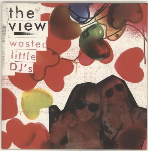 """The View Wasted Little DJ's - Pink Vinyl 7"""" vinyl single (7 inch record) UK TVW07WA366892"""