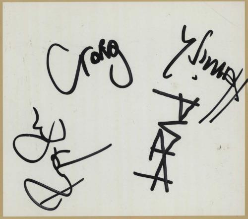 The Vines Signed Card memorabilia Japanese VNEMMSI688411