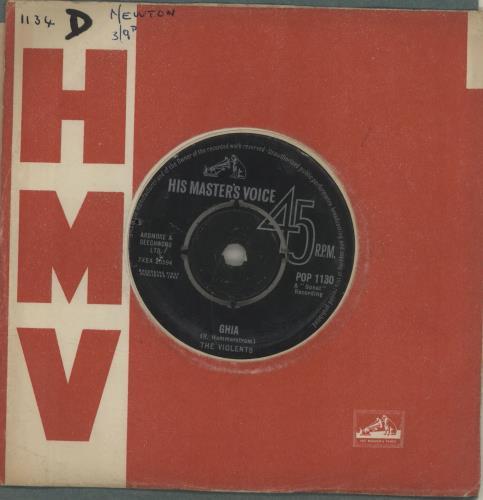 "The Violents Alpens Ros 7"" vinyl single (7 inch record) UK U8K07AL685065"