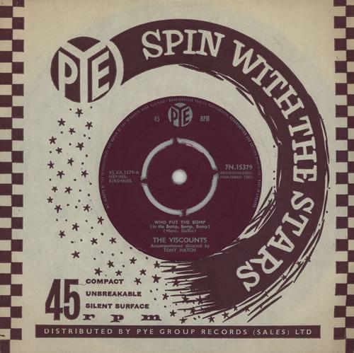 "The Viscounts Who Put The Bomp (In The Bomp, Bomp, Bomp) 7"" vinyl single (7 inch record) UK U-X07WH571829"