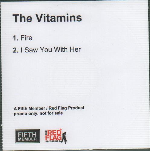 "The Vitamins Fire CD single (CD5 / 5"") UK XLUC5FI646218"