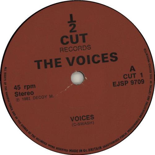 "The Voices Voices 7"" vinyl single (7 inch record) UK YJO07VO681755"