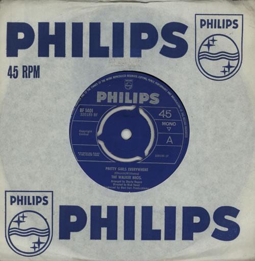 "The Walker Brothers Pretty Girls Everywhere 7"" vinyl single (7 inch record) UK TWB07PR501475"