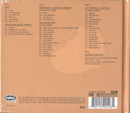 The Wedding Present Mini - Deluxe Edition - Sealed 3-disc CD/DVD Set UK TWP3DMI623612