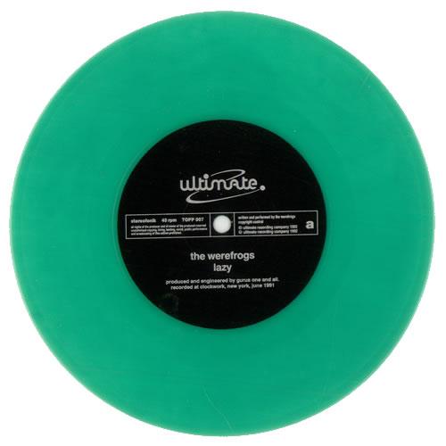"The Werefrogs Lazy - Green Vinyl 7"" vinyl single (7 inch record) UK UM-07LA510156"