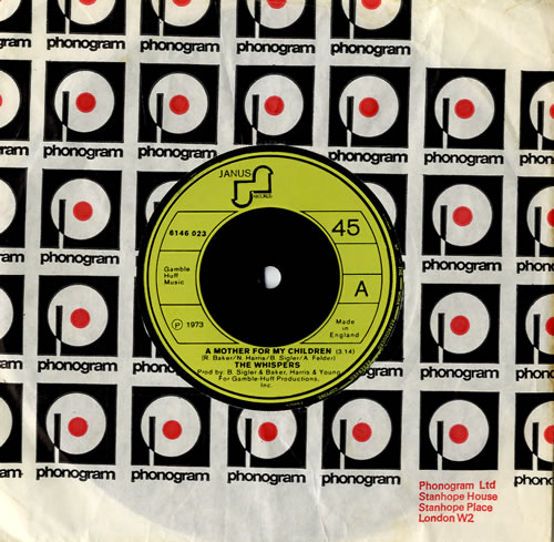 "The Whispers A Mother For My Children 7"" vinyl single (7 inch record) UK WHS07AM564465"