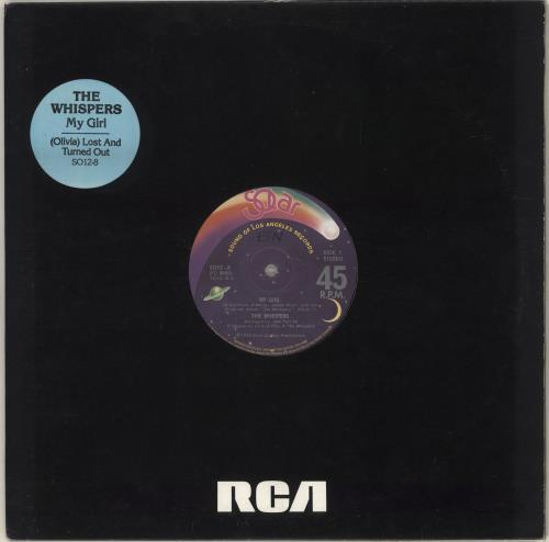 """The Whispers My Girl 12"""" vinyl single (12 inch record / Maxi-single) UK WHS12MY714056"""