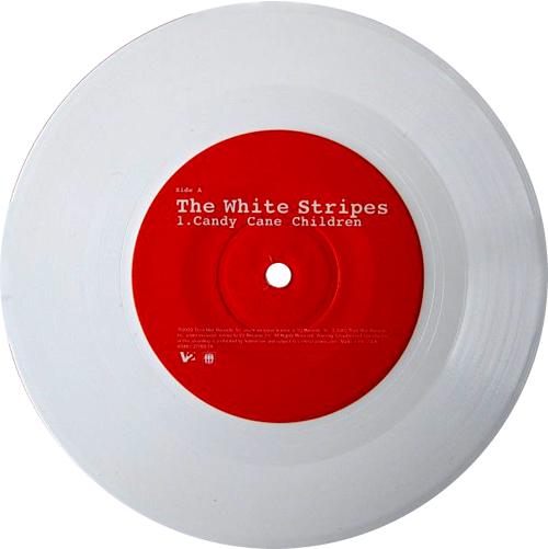"The White Stripes Candy Cane Children - white vinyl 7"" vinyl single (7 inch record) US WST07CA247548"