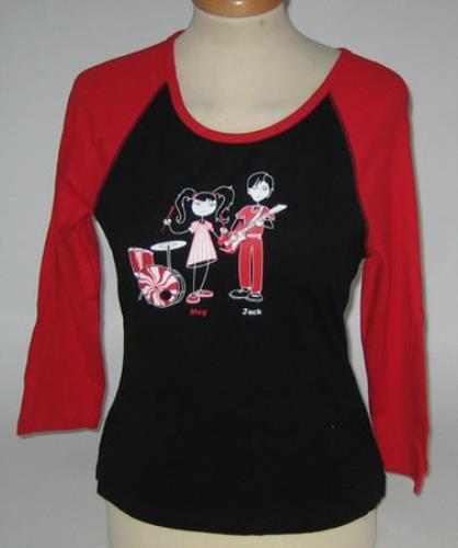 The White Stripes Cartoon Baseball Shirt [Girls] - Medium t-shirt US WSTTSCA388986