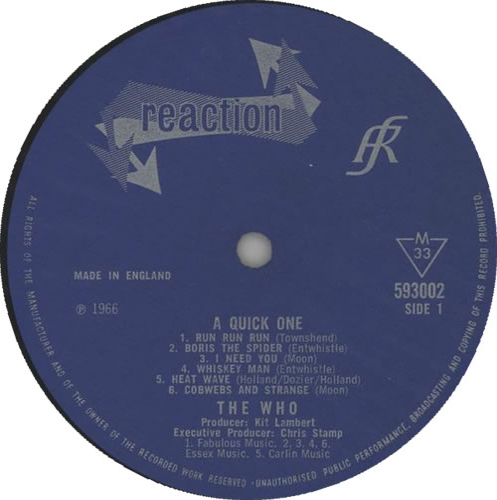 The Who A Quick One vinyl LP album (LP record) UK WHOLPAQ210979