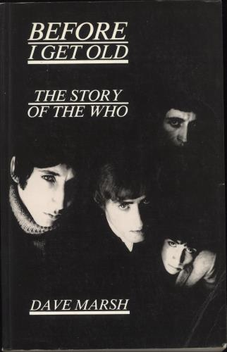The Who Before I Get Old book UK WHOBKBE588805