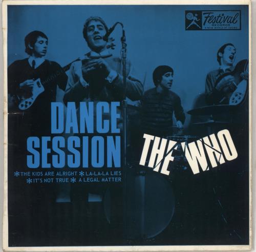 """The Who Dance Session EP 7"""" vinyl single (7 inch record) Australian WHO07DA711802"""